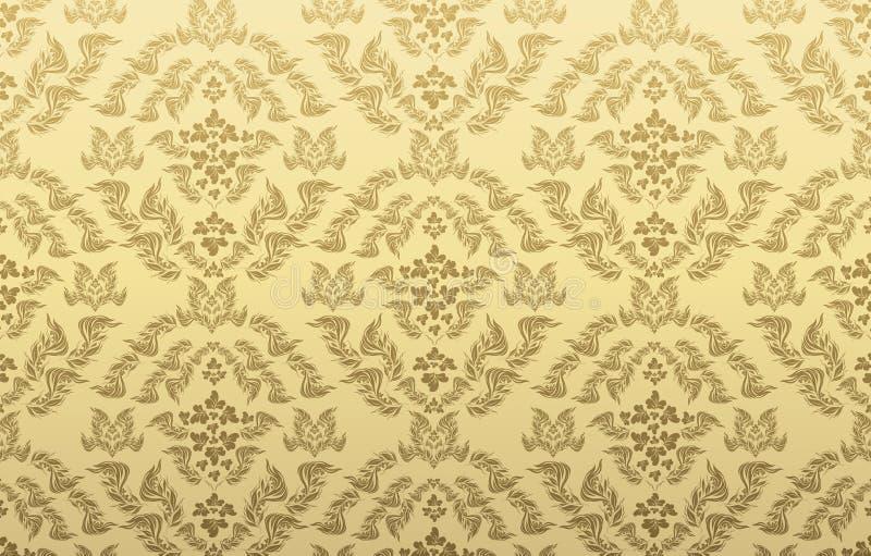 Decorative seamless floral ornament stock illustration