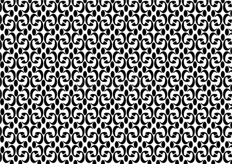 Decorative Seamless Pattern Vector Background vintage frontal texture black and white royalty free stock photos