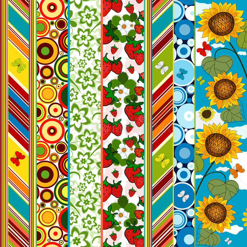Decorative seamless summer border stock image