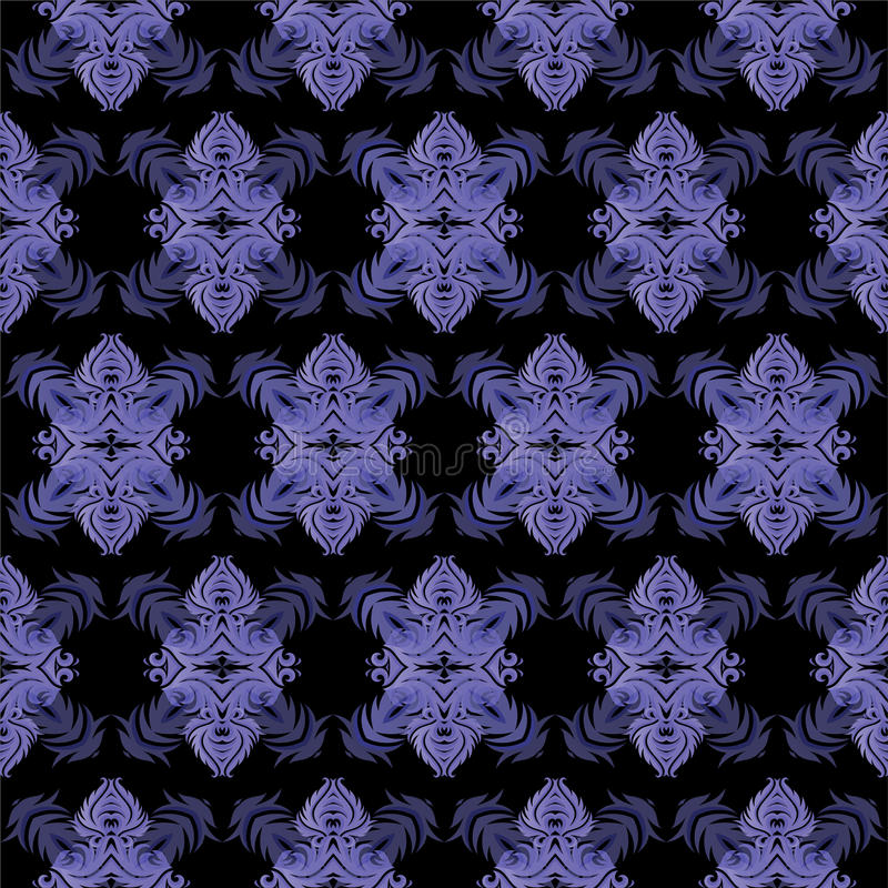 Decorative seamless tile pattern royalty free illustration
