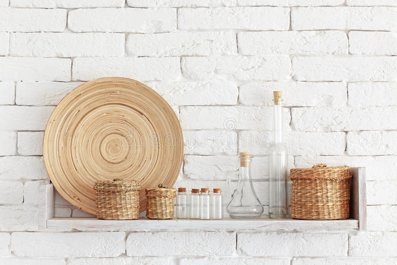 Download Decorative shelf stock photo. Image of bamboo, interior - 34366556
