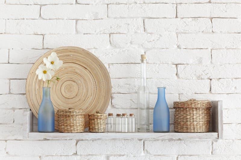 Download Decorative shelf stock image. Image of glass, bottles - 34366697