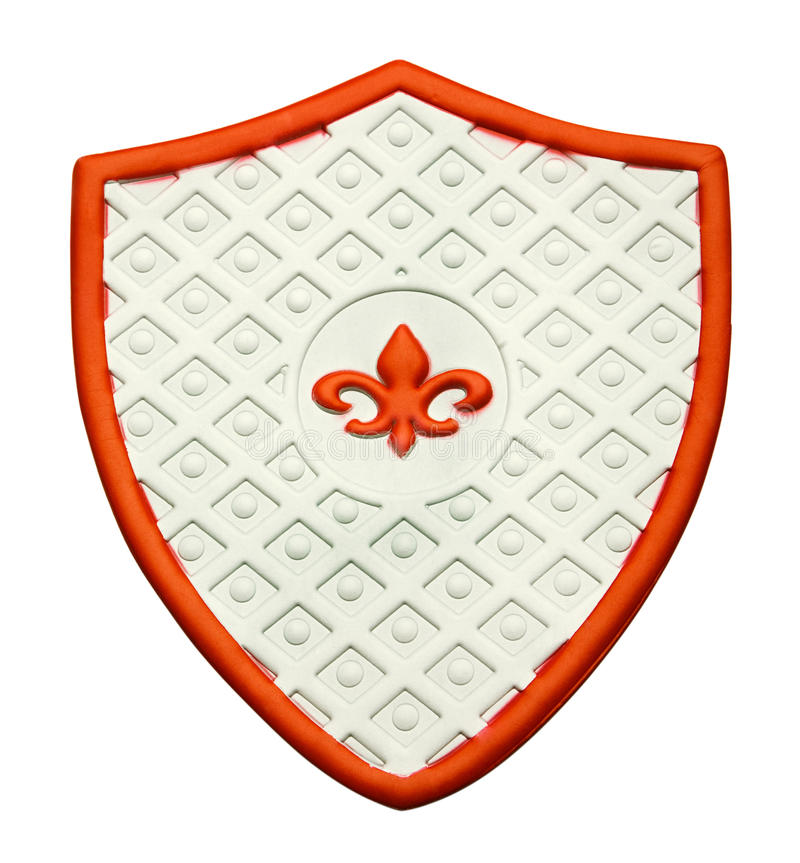 Decorative shield. Isolated over white stock images