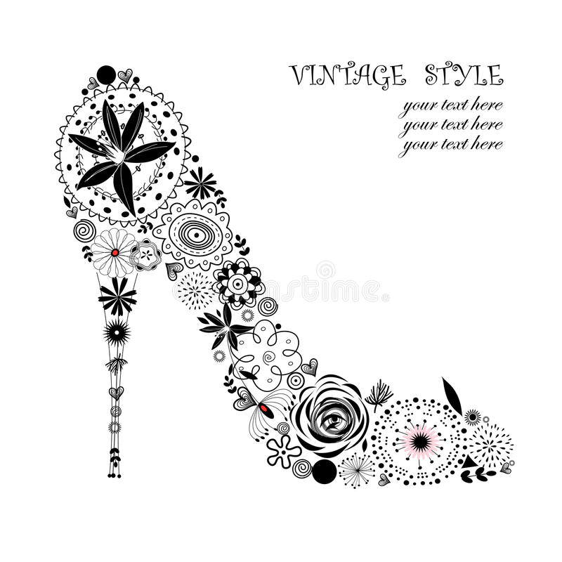 Download Decorative shoes stock vector. Illustration of floral - 26198791