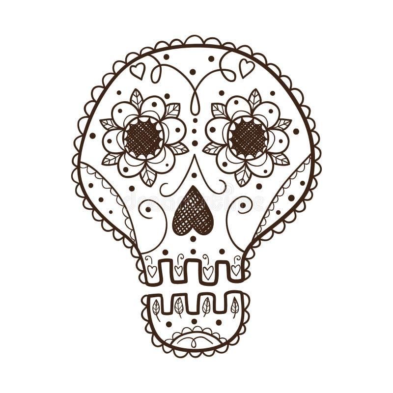 Decorative skull. vector illustration