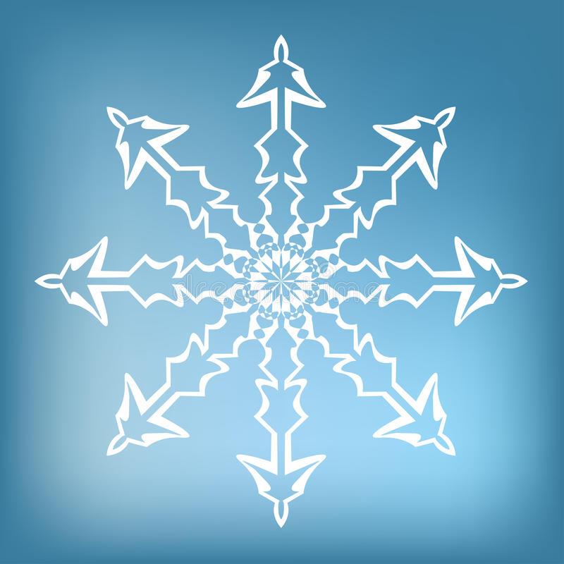 Decorative snowflake stock image