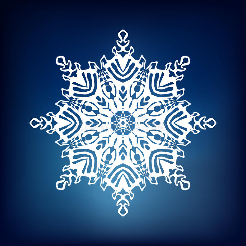 Decorative snowflake royalty free stock photos