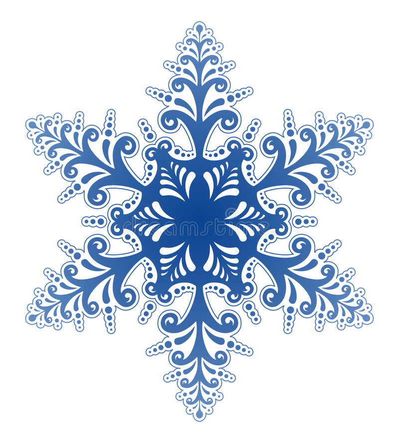 Decorative Snowflake Ornament Vector royalty free illustration