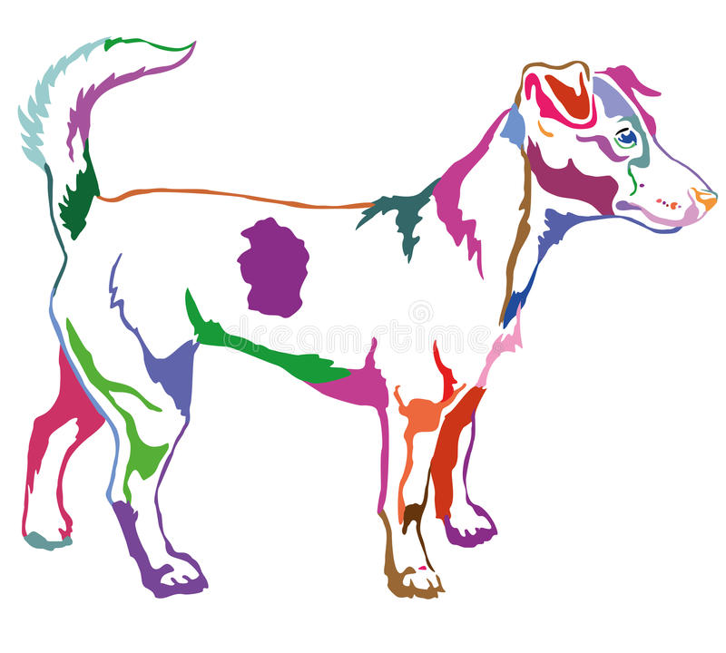 Free Decorative Standing Portrait Of Dog Jack Russell Terrier Vector Royalty Free Stock Photos - 96428048