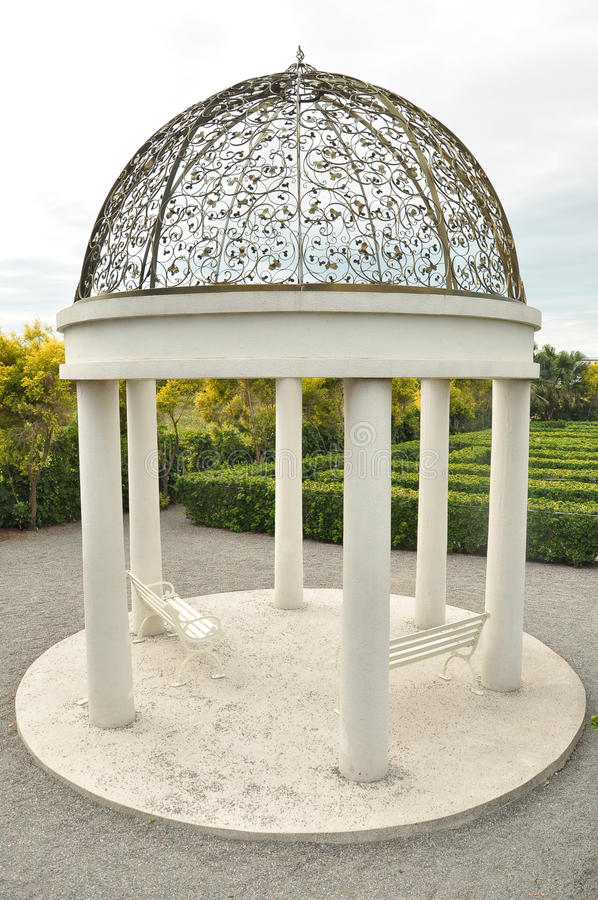 Decorative steel gazebo dome royalty free stock images