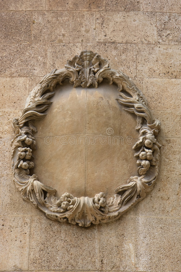 Download Decorative stone wreath stock photo. Image of carving - 6959098