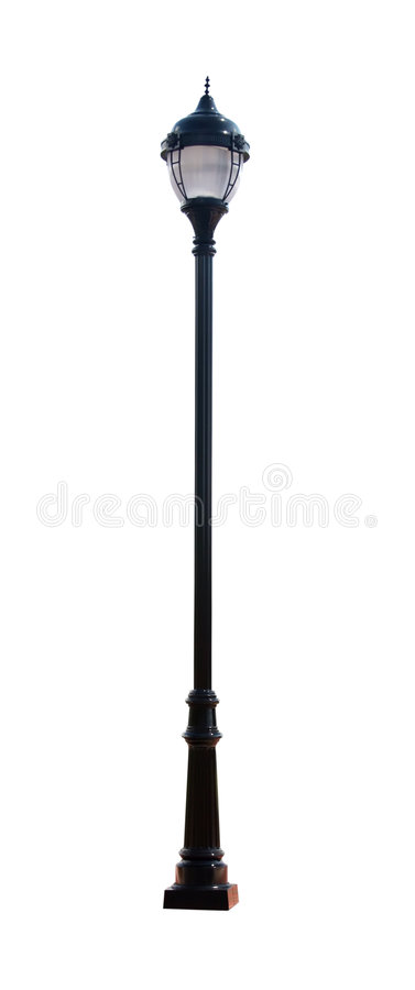 Decorative Street Light with Clipping Path royalty free stock photo