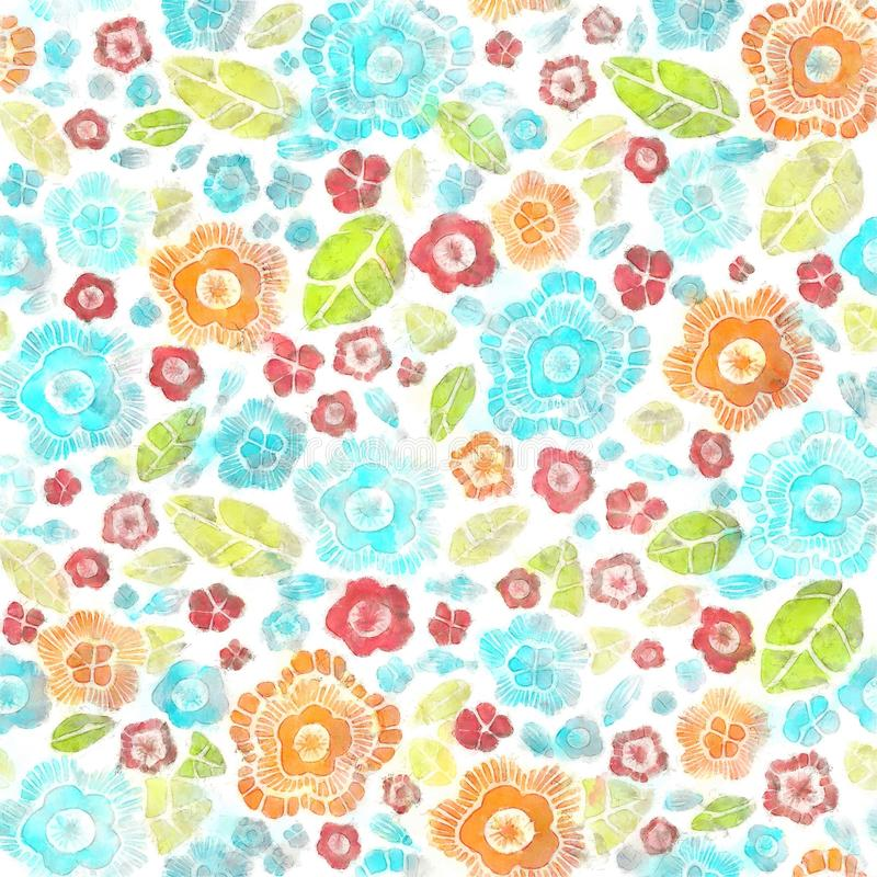Decorative Stylish Spring Seamless Floral Pattern Bright Endless Texture With Flowers And Petals royalty free illustration