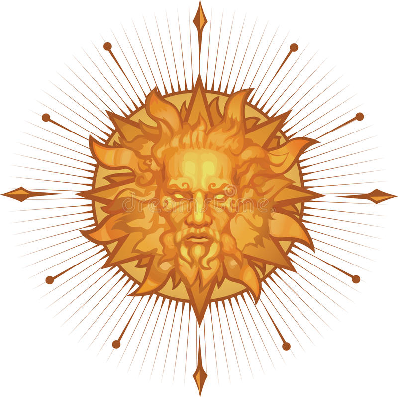 Decorative Sun Emblem Royalty Free Stock Photos