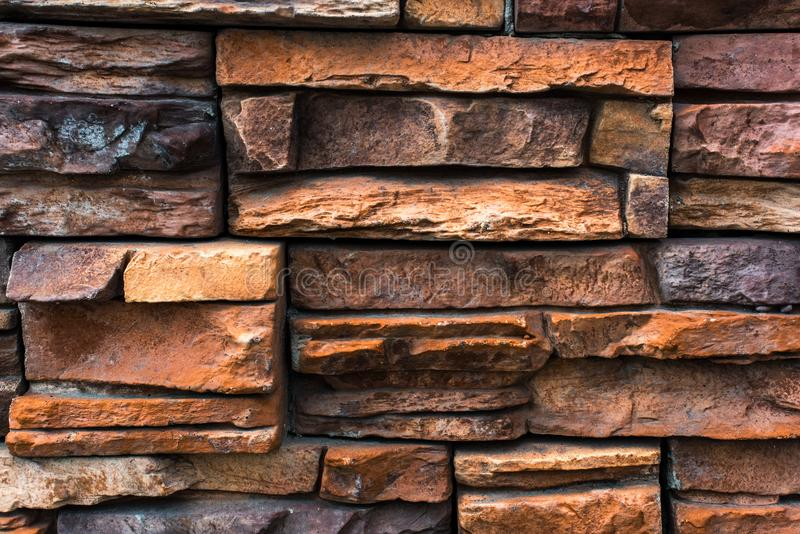 Decorative surface of pieces of stone. Is close royalty free stock photos