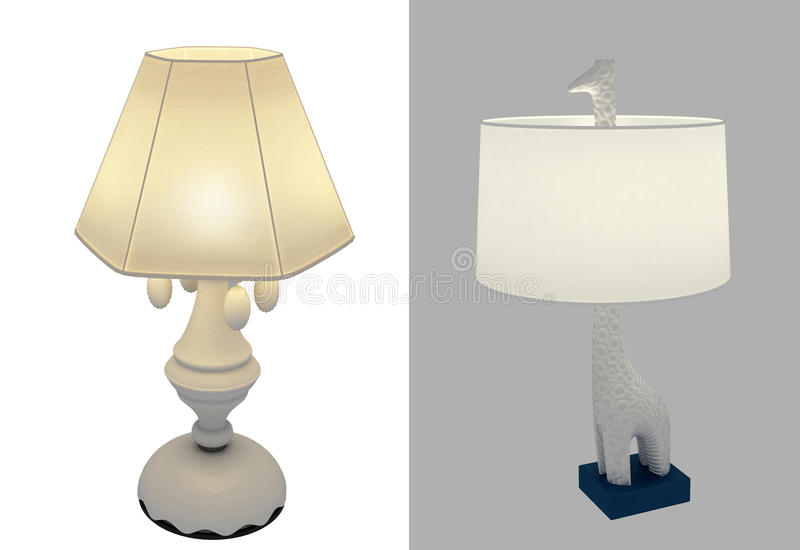 Download Decorative table lamps stock photo. Image of stylish - 19014118