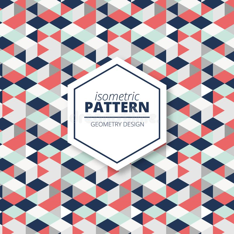 Decorative textile geometric pattern background desing stock illustration