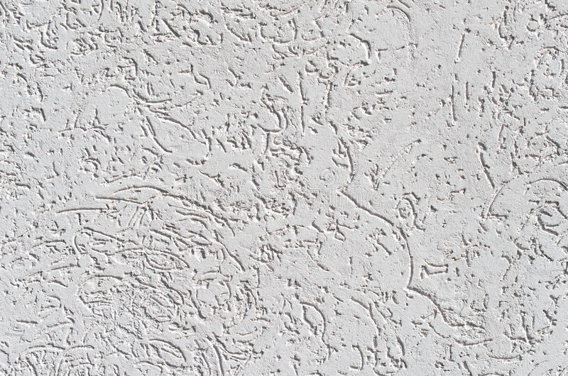 Decorative texture of the bark beetle is made of special putty. stock image