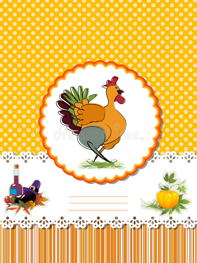 Decorative Thanksgiving Day card