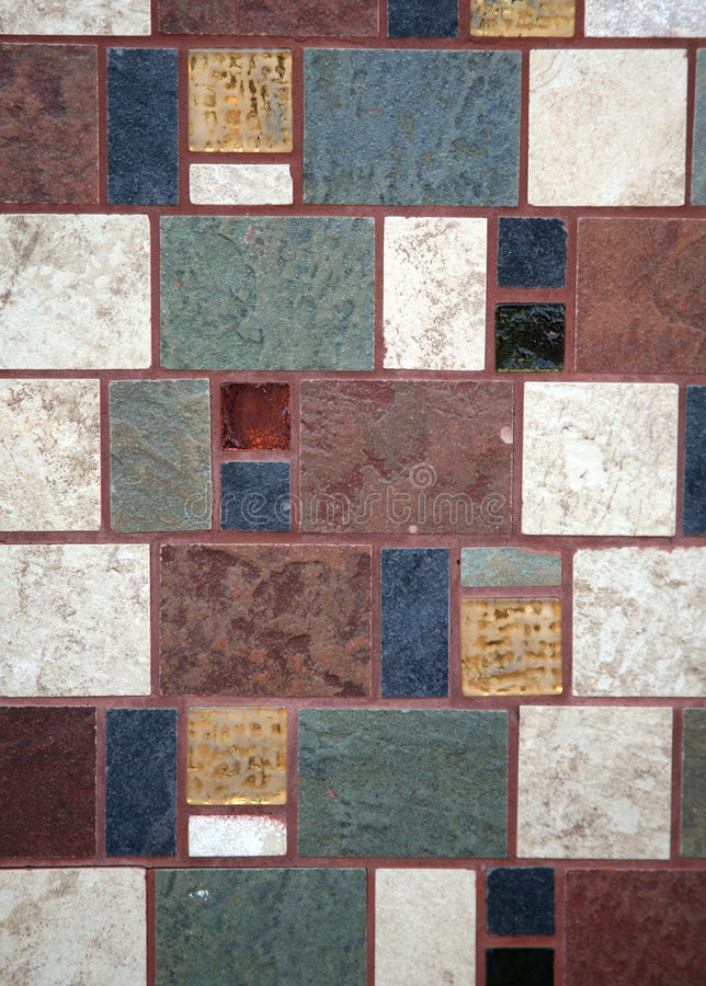 Decorative tile wall stock photography