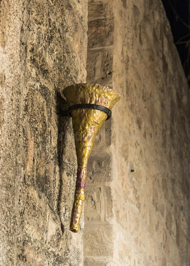 Free Decorative Torch On The Wall Of The House In On Old City Yafo In Tel Aviv-Yafo In Israel Royalty Free Stock Photo - 107071365