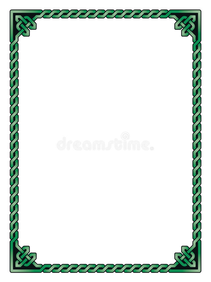 decorative traditional celtic frame vector illustration stock vector rh dreamstime com  celtic border clipart vector
