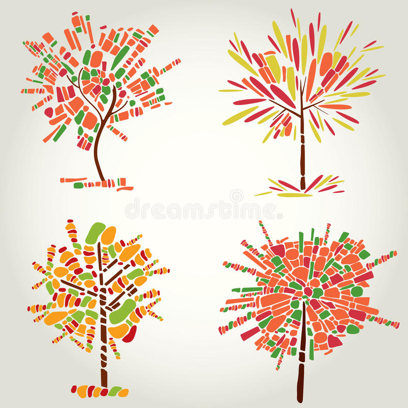 Download Decorative Tree From Mosaic. Thanksgiving Stock Vector - Image: 20058606