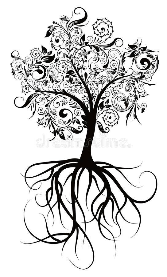 Download Decorative Tree, Vector Illustration Stock Vector - Image: 11266365