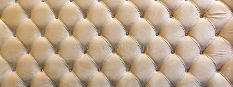 Decorative upholstery headboard. Stitch Kapiton decorative upholstery headboard stock photography