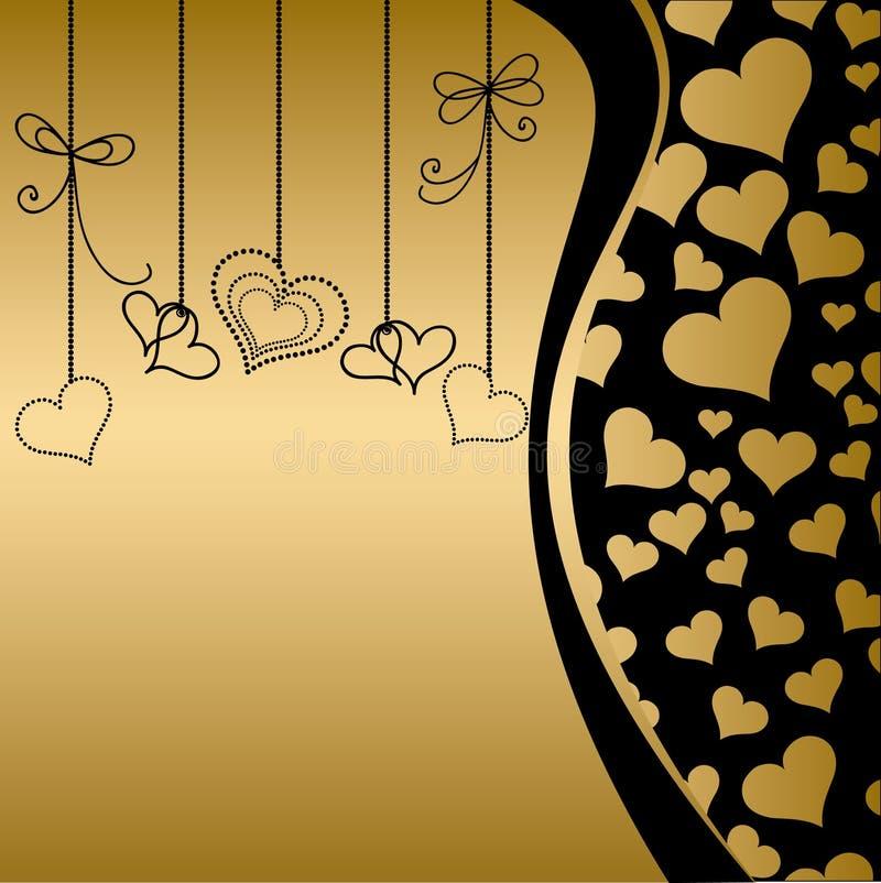 Decorative valentine heart vector illustration