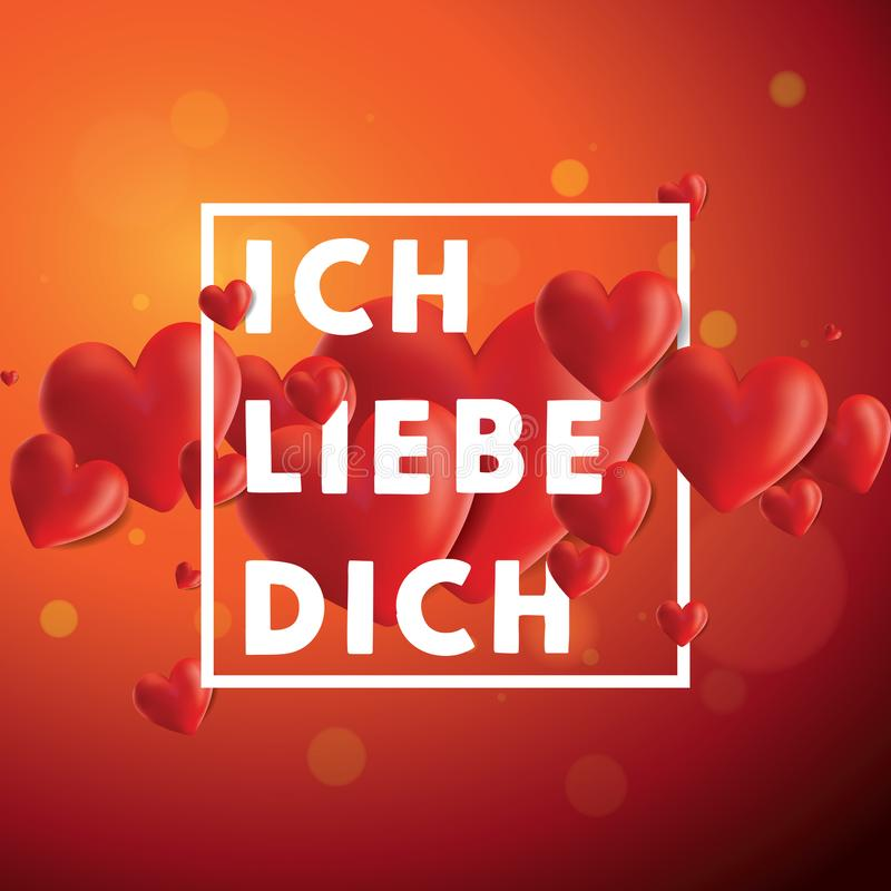 Ich liebe dich Vector Background royalty free illustration