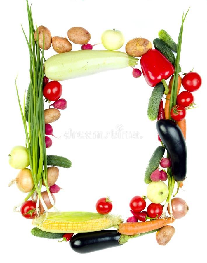 Decorative vegetables frame royalty free stock photo