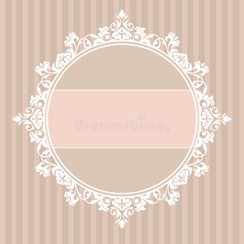Decorative vintage frame royalty free illustration