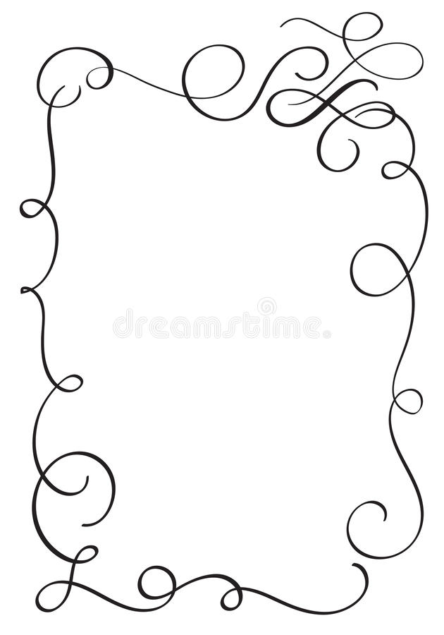Decorative vintage Frame and Borders Art. Calligraphy Vector illustration EPS10 vector illustration
