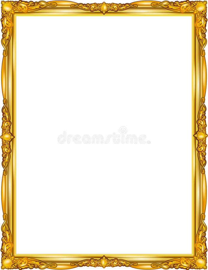 Decorative vintage frames and borders set,photo frame with corner line stock illustration