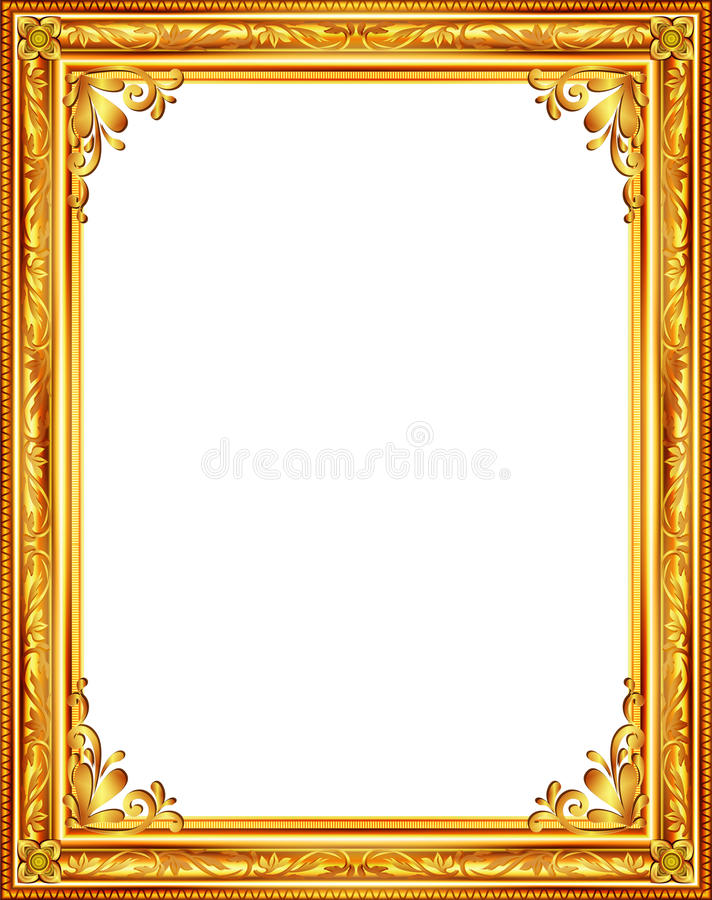 Download Decorative Vintage Frames And Borders Set,photo Frame With Corner  Line Stock Illustration -
