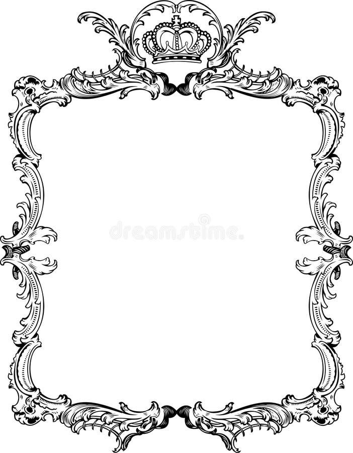 Decorative Vintage Ornate Frame. Stock Vector - Illustration of ...