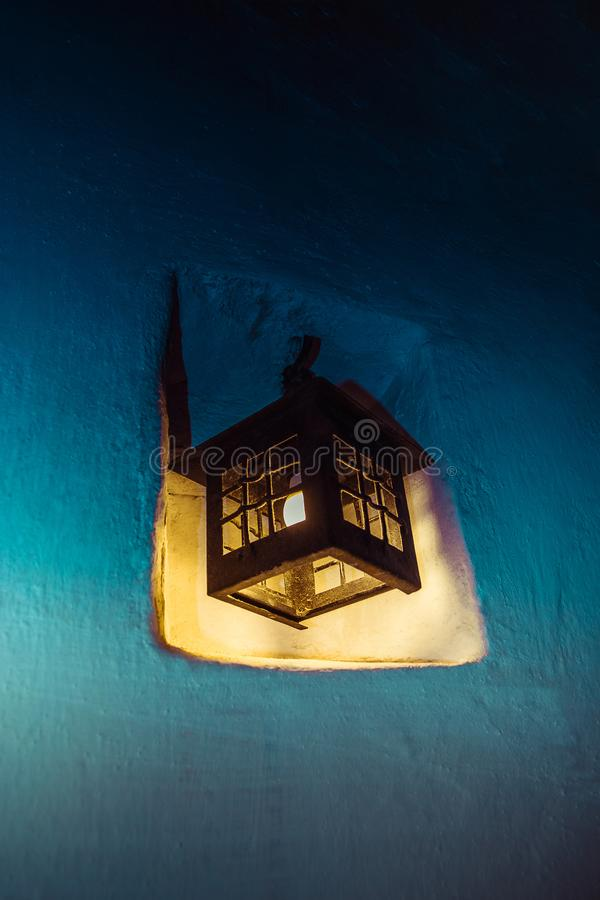 download decorative vintage wall yellow light lamp stock image image of retro horror