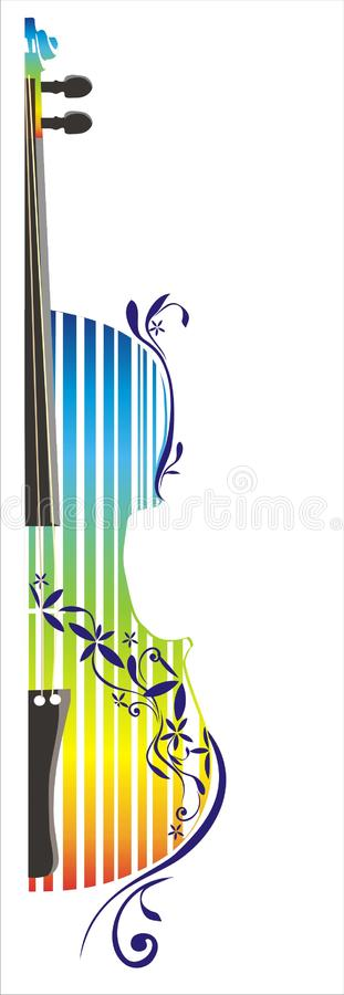 Decorative violin stock illustration