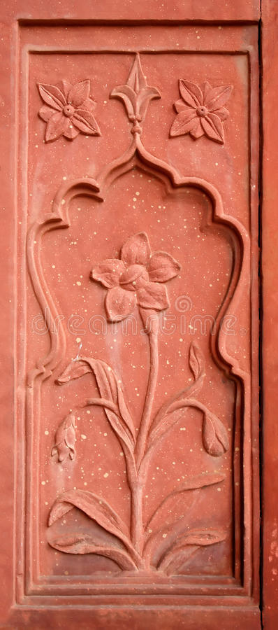 Download Decorative Wall Detail Red Fort, Old Delhi, India Stock Photo - Image: 12564782