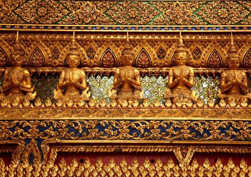 Decorative wall line thai stock image