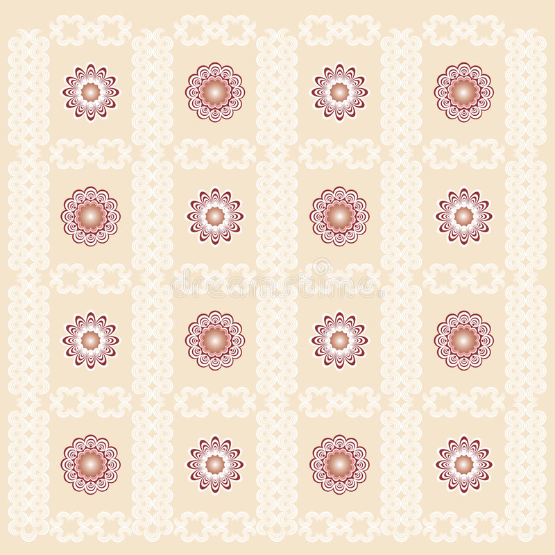 Decorative Wallpaper. Decorative Wallpaper Background. Vector File, change colors easily stock illustration