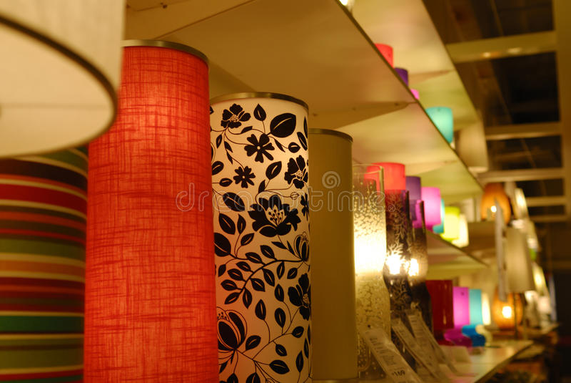 Decorative warm lamp stock photo