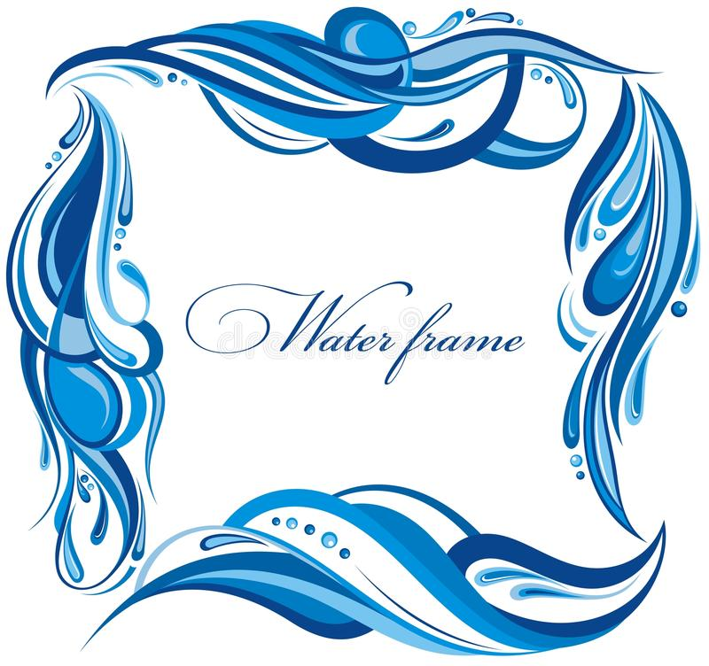 Free Decorative Water Frame Royalty Free Stock Photography - 41857667
