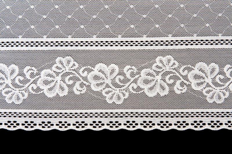Decorative white lace stock images