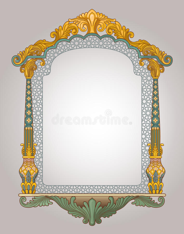 Decorative window frame stock illustration. Illustration of arch ...
