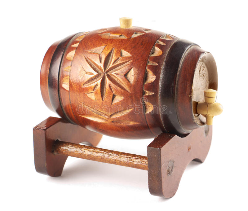 Download Decorative wooden barrel stock photo. Image of decoration - 18418344