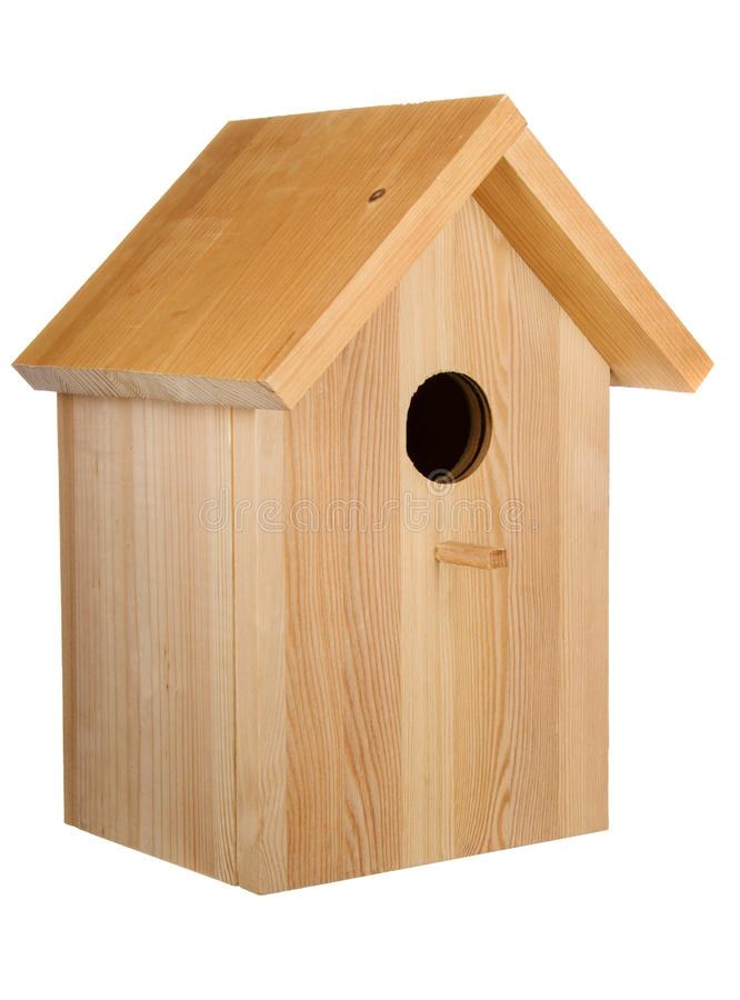 Free Decorative Wooden Bird House Isolated Royalty Free Stock Images - 89126099