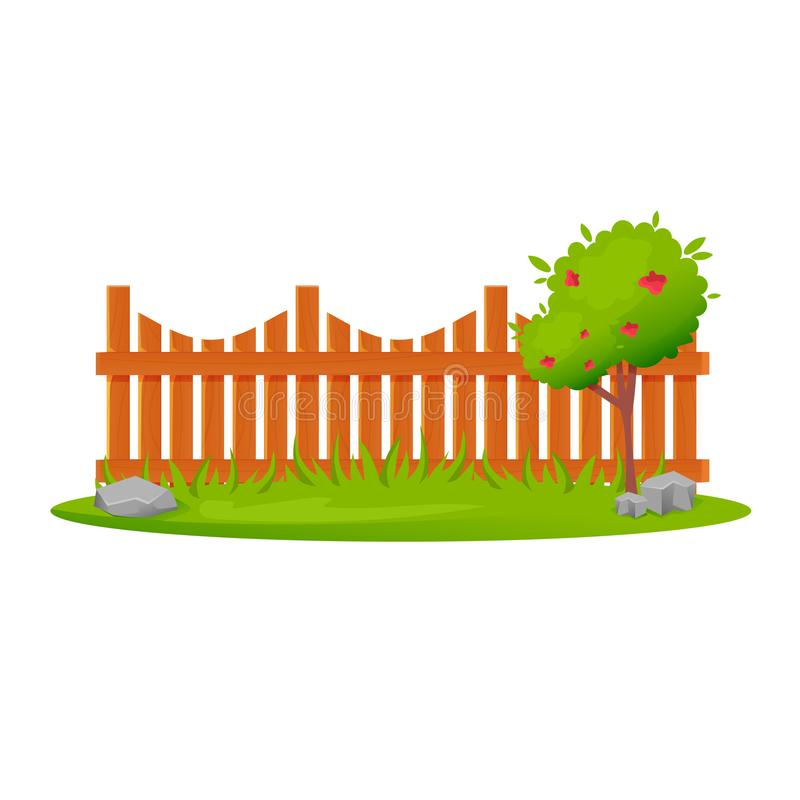 Set Of Wooden Fences Sections Of Different Forms Stock