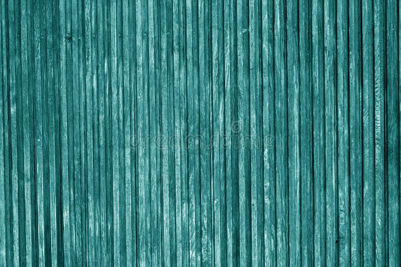 Decorative wooden surface in cyan color royalty free stock photos